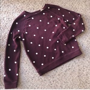 Levi's maroon polka dot sweater, XS